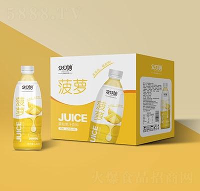 �口妙菠�}果粒果汁�料1.25Lx6瓶