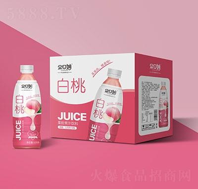 �口妙白桃果粒果汁�料1.25Lx6瓶