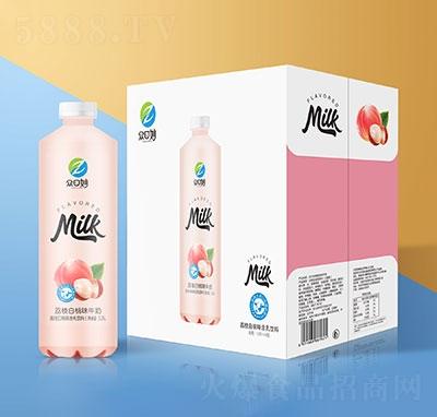 �口妙荔枝白桃牛奶乳味�料1.25Lx6瓶