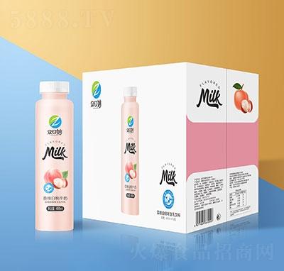 �口妙荔枝白桃牛奶乳味�料400mlx15瓶