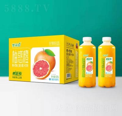 梦果园橙+西柚复合果汁饮料1.2LX8