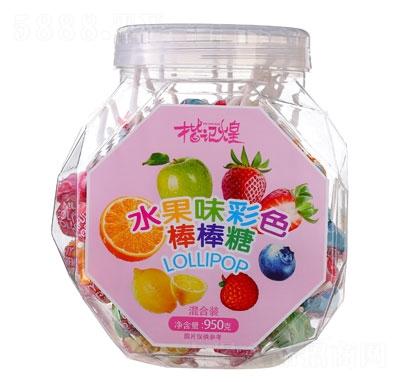 楷�煌水果味彩色棒棒糖950g