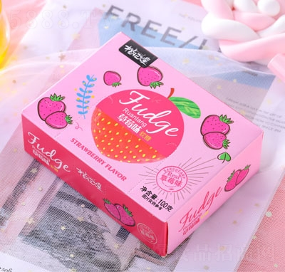 楷�煌草莓味�糖100g
