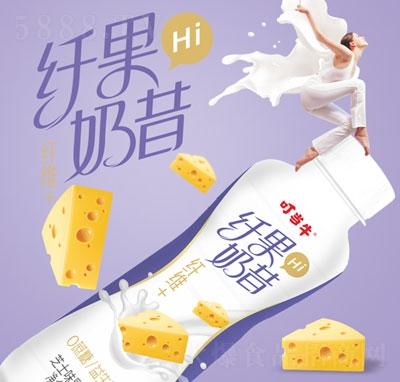 叮当牛纤果奶昔芝士味乳酸菌饮品350ml(瓶装)