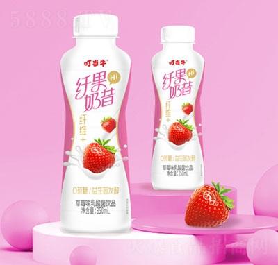 叮当牛纤果奶昔草莓味乳酸菌饮品(瓶)