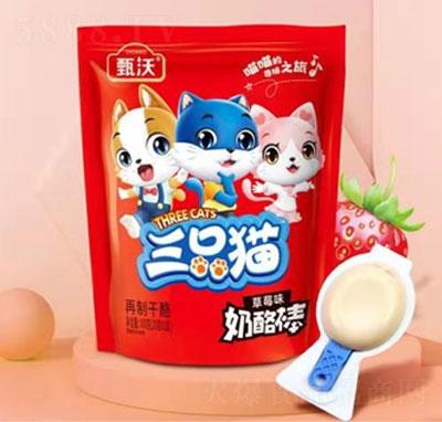 甄沃三只猫奶酪棒草莓味(袋)