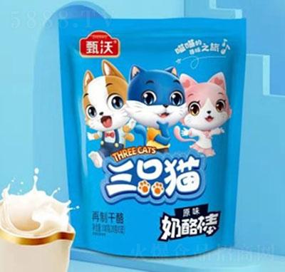 甄沃三只猫奶酪棒原味(袋)