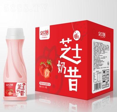 众口妙草莓奶昔乳酸菌饮品1.25LX6瓶