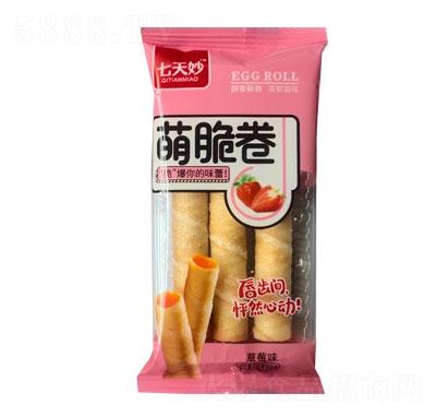 七天妙萌脆卷草莓味产品图