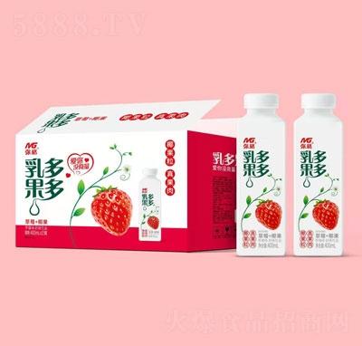 弥格乳果多多草莓味奶味饮品400mlX15
