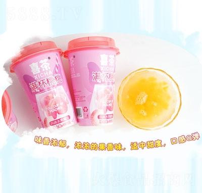 喜茶满杯桃桃风味水果罐头330g产品图