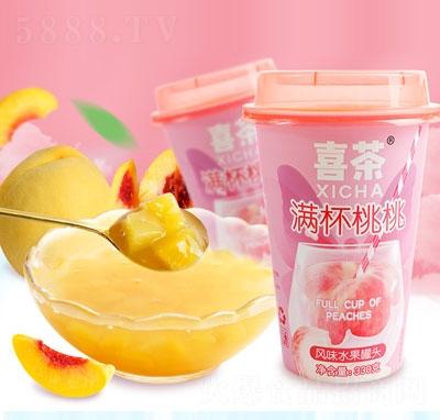 喜茶满杯桃桃风味水果罐头(杯装)产品图