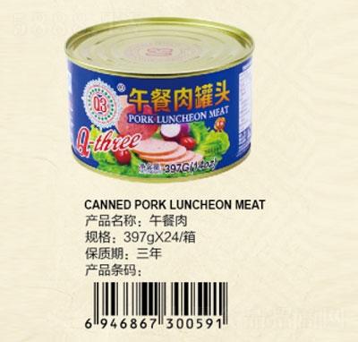 Q3午餐肉罐头397克产品图