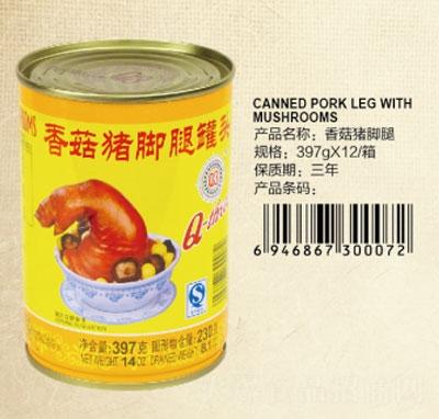 Q3香菇猪脚腿罐头397克产品图