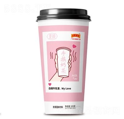 王老吉白桃牛乳茶
