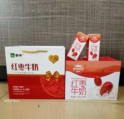 蒙牛红枣牛奶250mlX12包