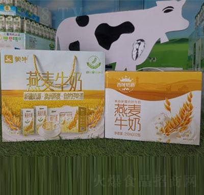 蒙牛燕麦牛奶250mlX12包