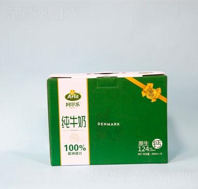 阿尔乐全脂纯牛奶12盒