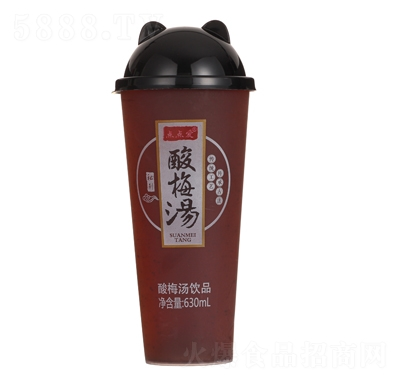 点点爱酸梅汤饮品杯装果汁630ml