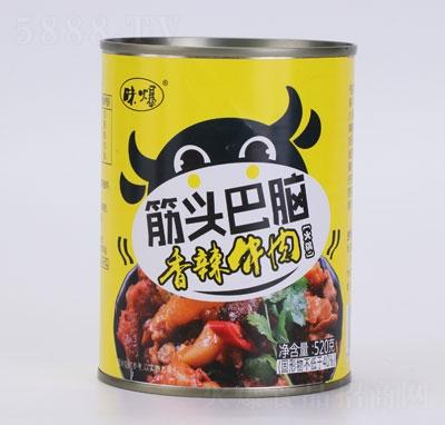味爆筋头巴脑香辣牛肉罐头产品图