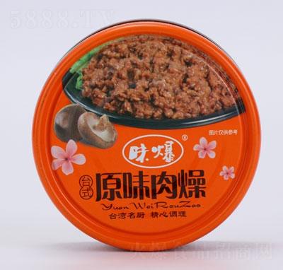 味爆台式原味肉燥罐头产品图