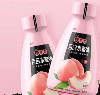 蜗旅百合水蜜桃果汁饮料350ml