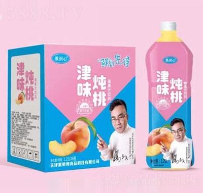 果润心津味炖桃果汁饮料1.25LX6