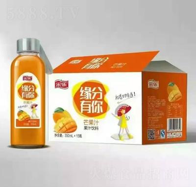 宋乐芒果汁果汁饮料350mlX15瓶