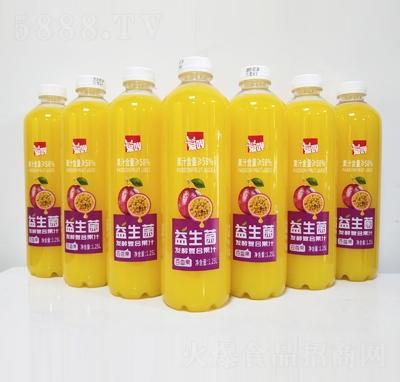 爱吖益生菌发酵百香果汁1.25L