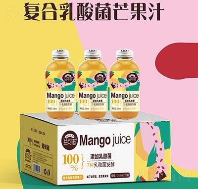 318毫升玻璃瓶复合乳酸菌果汁芒果味