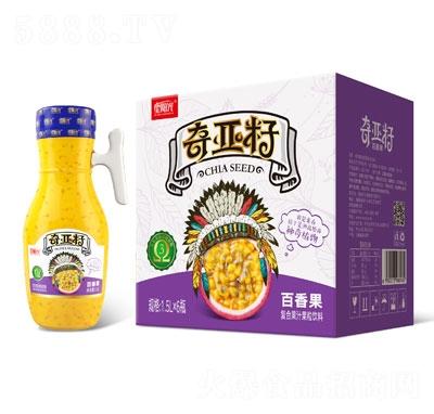 星阳光奇亚籽百香果复合果汁果粒饮料1.5LX6