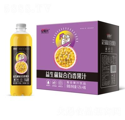 星阳光益生菌复合百香果汁1.25LX6