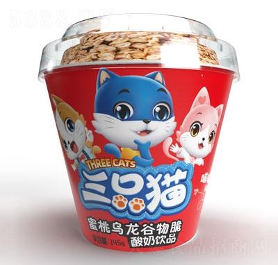 三只猫蜜桃乌龙谷物脆酸奶饮品145g