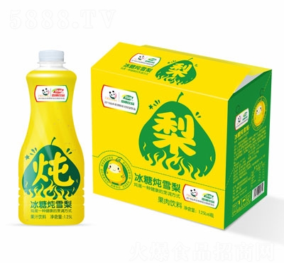 浩明冰糖炖雪梨果汁饮料1.25L