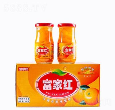 富家红柑橘罐头箱装产品图