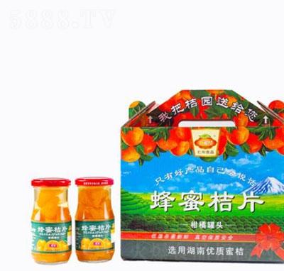 仁和红蜂蜜桔片柑橘罐头产品图