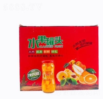 水果罐头箱装产品图
