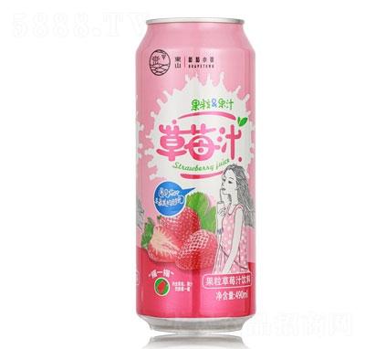 有情郎草莓果粒果汁490ml