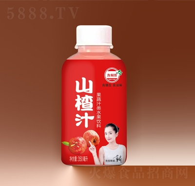 友利友山楂汁果味饮料350毫升
