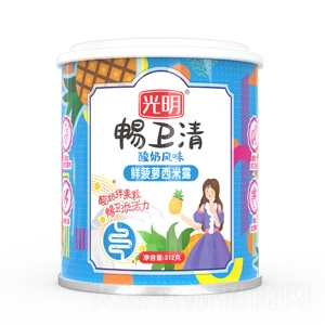 光明畅卫清酸奶风味鲜菠萝西米露1x12x312g