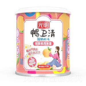 光明畅卫清酸奶风味鲜黄桃西米露1x12x312g