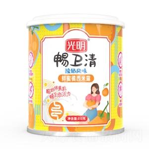 光明畅卫清酸奶风味鲜蜜橘西米露1x12x312g