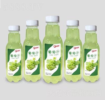 益城大果粒葡萄汁风味饮料450ml(瓶装)