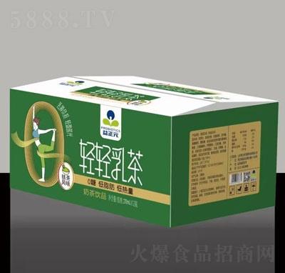 益正元轻轻乳茶抹茶味奶茶饮品270ml×12瓶