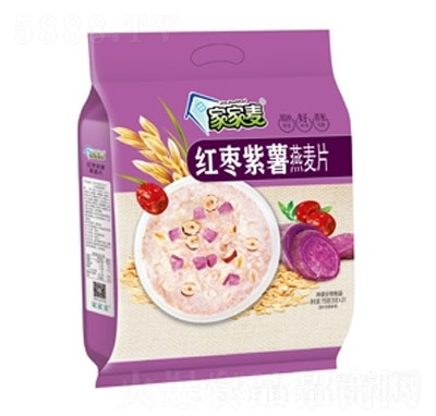 家家麦红枣紫薯燕麦片735克产品图