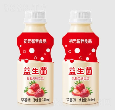 初元智�B益生菌乳酸�L味�品草莓味340ml