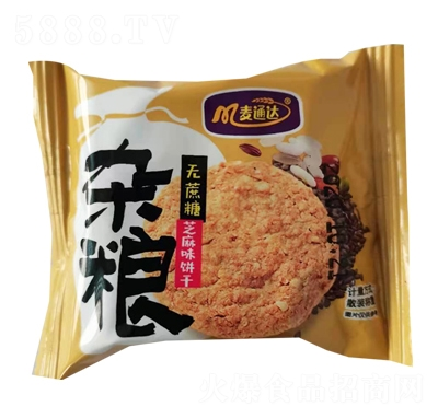 麦通达无蔗糖杂粮饼干产品图