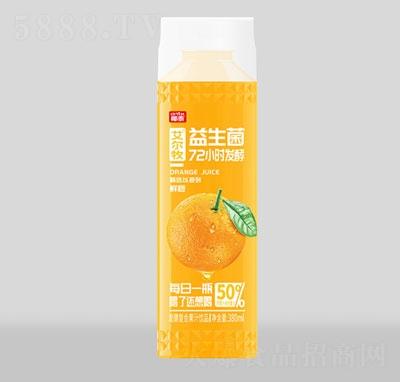 艾尔牧益生菌鲜橙发酵果汁380ml