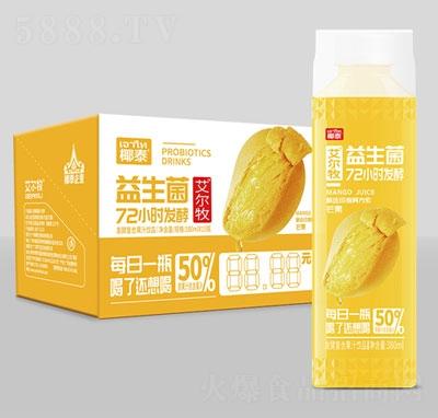 艾尔牧益生菌芒果发酵果汁380mlx15瓶