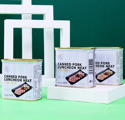 午餐肉罐头装产品图